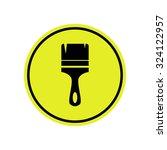 brush icon | Shutterstock .eps vector #324122957