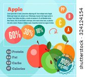 infographics apple and vitamins ... | Shutterstock .eps vector #324124154
