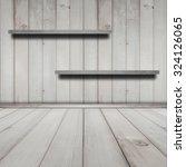 wood room interior design  ... | Shutterstock . vector #324126065