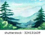 watercolor illustration.... | Shutterstock . vector #324131639