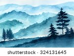 watercolor illustration.... | Shutterstock . vector #324131645