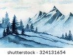 Watercolor Illustration. Winte...