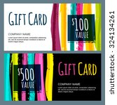 vector template for gift card... | Shutterstock .eps vector #324134261