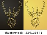 gold and black deer icon....