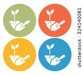 planting icon   Shutterstock .eps vector #324140081