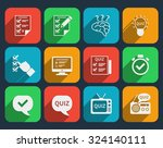 lottery and quiz icons set.... | Shutterstock .eps vector #324140111
