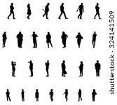set of people. children  adults ...   Shutterstock .eps vector #324141509
