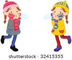 illustration of two children   Shutterstock .eps vector #32415355
