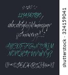 vector alphabet. hand drawn... | Shutterstock .eps vector #324159041