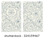 vintage card with flowers on... | Shutterstock .eps vector #324159467