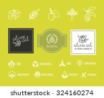 vector set of design elements... | Shutterstock .eps vector #324160274