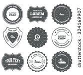 vintage emblems  labels.... | Shutterstock .eps vector #324169907