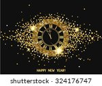 magic new year composition with ... | Shutterstock .eps vector #324176747