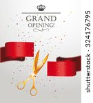 grand opening card with... | Shutterstock .eps vector #324176795