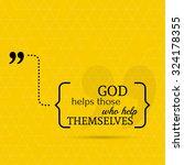 inspirational quote. god helps... | Shutterstock .eps vector #324178355