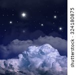 dark night with many stars and... | Shutterstock . vector #324180875