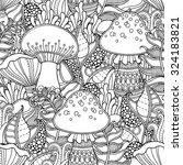 seamless pattern in doodle... | Shutterstock .eps vector #324183821