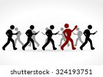 stick people with smartphones | Shutterstock .eps vector #324193751