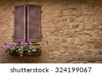 Brown Window Shutters And...