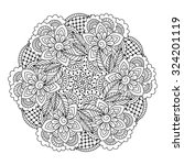 round element for coloring book....   Shutterstock .eps vector #324201119