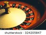 Old Roulette Wheel. Casino...