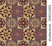 christmas seamless pattern of... | Shutterstock .eps vector #324211001