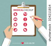 infographics of medical checkup ... | Shutterstock .eps vector #324211814