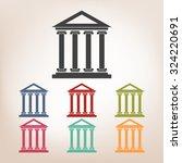 historical building icon set ... | Shutterstock .eps vector #324220691