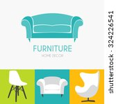 sofa business sign set vector... | Shutterstock .eps vector #324226541