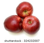 ripe red apple isolated on... | Shutterstock . vector #324232007