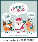 christmas card. santa claus ... | Shutterstock .eps vector #324233405