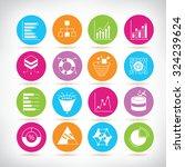 data analytics icons set | Shutterstock .eps vector #324239624
