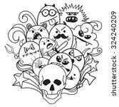cartoon vector hand drawn... | Shutterstock .eps vector #324240209