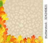 autumn background with yellow ... | Shutterstock . vector #324240821