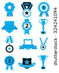medals blue icons set | Shutterstock .eps vector #324241094
