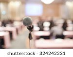 close up of microphone in... | Shutterstock . vector #324242231