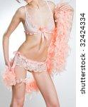 attractive woman in pink... | Shutterstock . vector #32424334