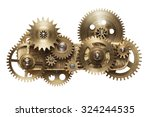 metal collage of clockwork... | Shutterstock . vector #324244535