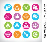 social media and network icons | Shutterstock .eps vector #324245579