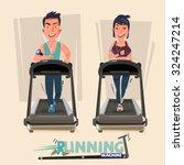 smart male and female doing... | Shutterstock .eps vector #324247214