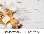 ingredients for baking   milk... | Shutterstock . vector #324247979