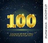postcard 100 years anniversary...   Shutterstock . vector #324249119