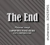 "end credits   ""the end"" title... 