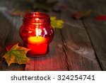 cemetery red lantern candle... | Shutterstock . vector #324254741