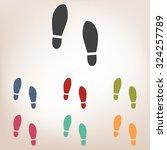 imprint soles shoes icon set