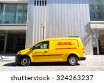 dhl volkswagen delivery car... | Shutterstock . vector #324263237