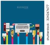 notebook  notebook  tablet ...   Shutterstock .eps vector #324267677