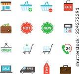 e commerce shopping icon vector ... | Shutterstock .eps vector #324272291
