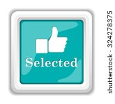 selected icon. internet button... | Shutterstock . vector #324278375