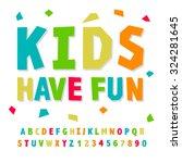creative kids funny alphabet...   Shutterstock .eps vector #324281645
